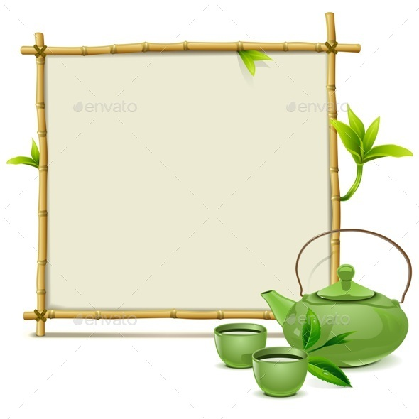 GraphicRiver Bamboo Frame with Green Tea 11949719