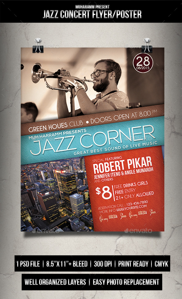 GraphicRiver Jazz Concert Flyer Poster 11949742