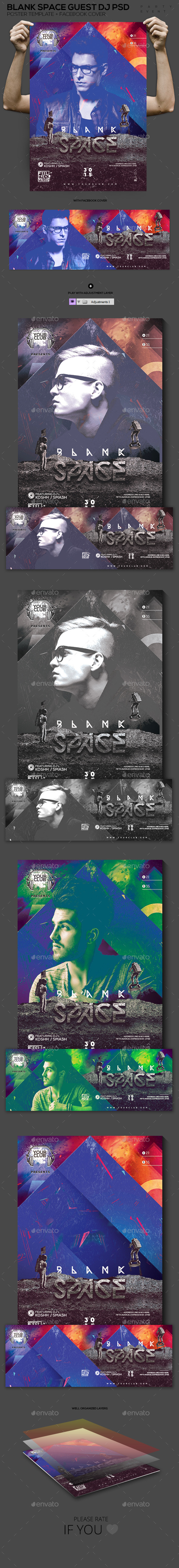 GraphicRiver Blank Space Guest DJ PSD Template 11949847