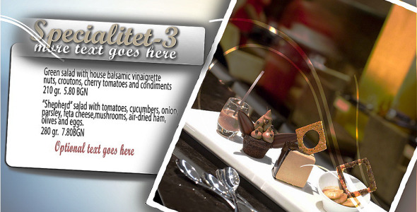 After Effects Project - VideoHive Our Restaurant 981075