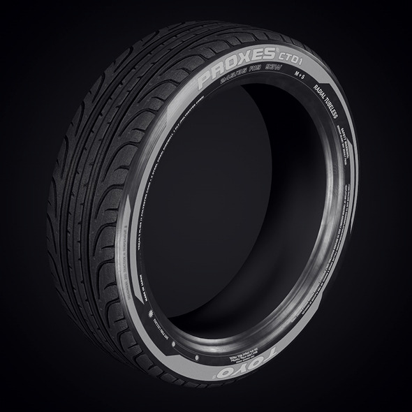 low poly tyre  - 3DOcean Item for Sale