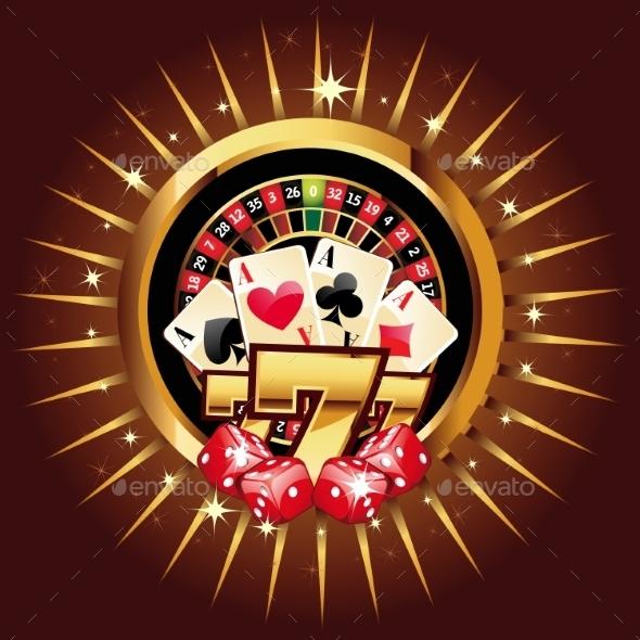 GraphicRiver Casino Gold-Framed Composition 11949968