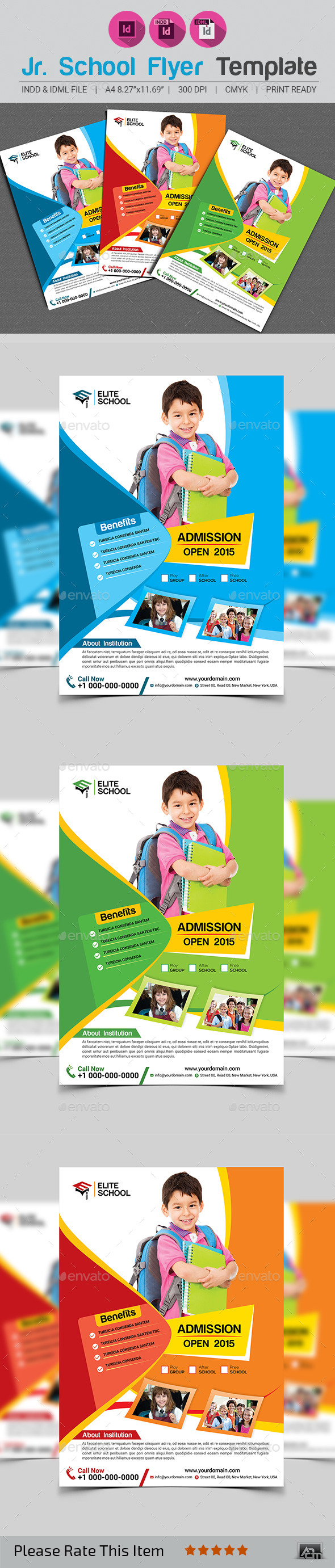 GraphicRiver Junior School Flyer Template 11950176