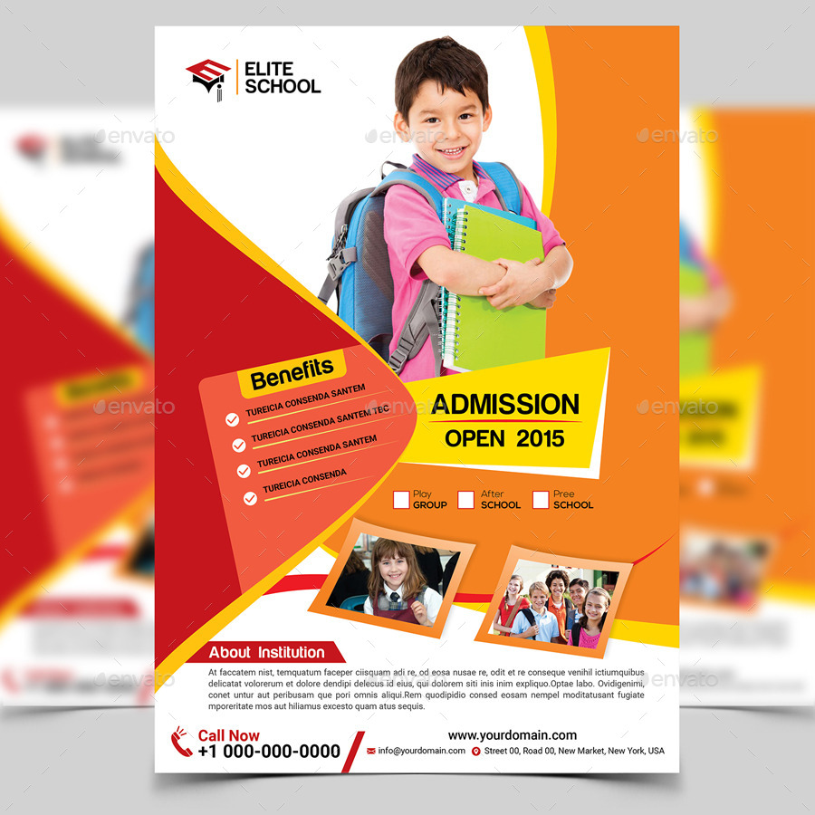 school flyer template info junior school flyer template by aam360 graphicriver