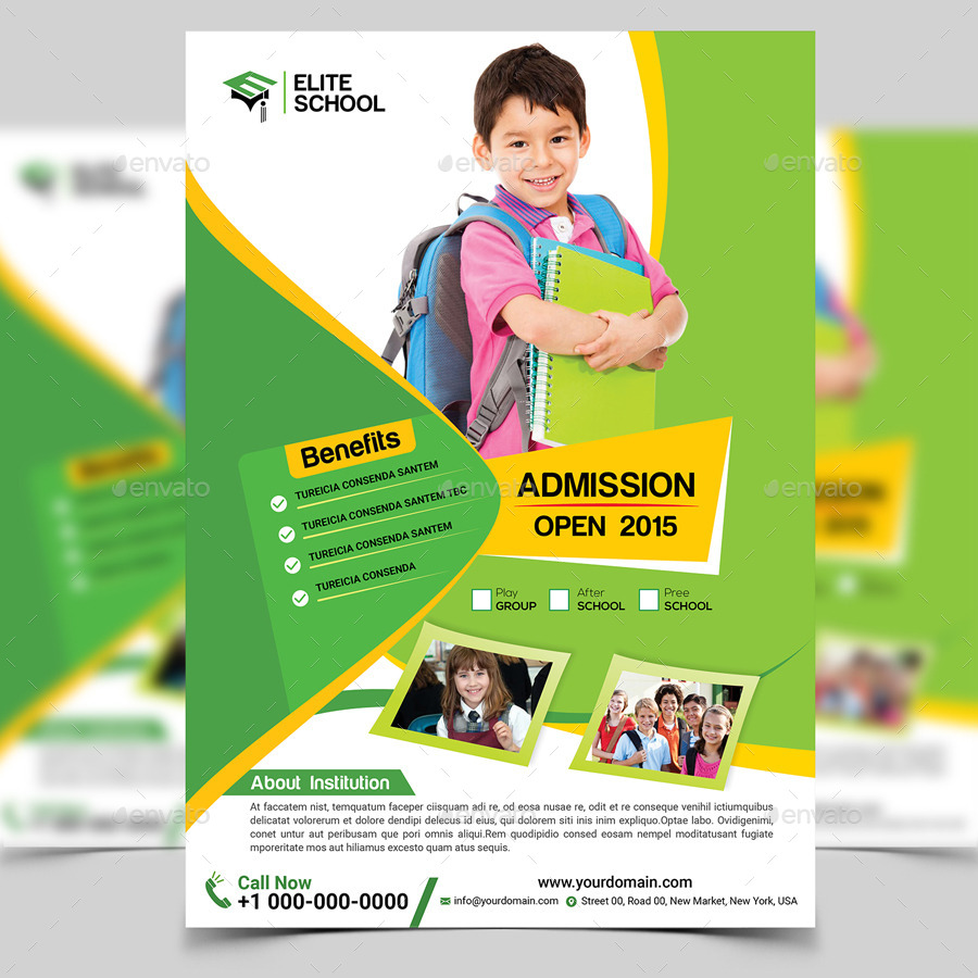 Junior School Flyer Template By Aam360 Graphicriver