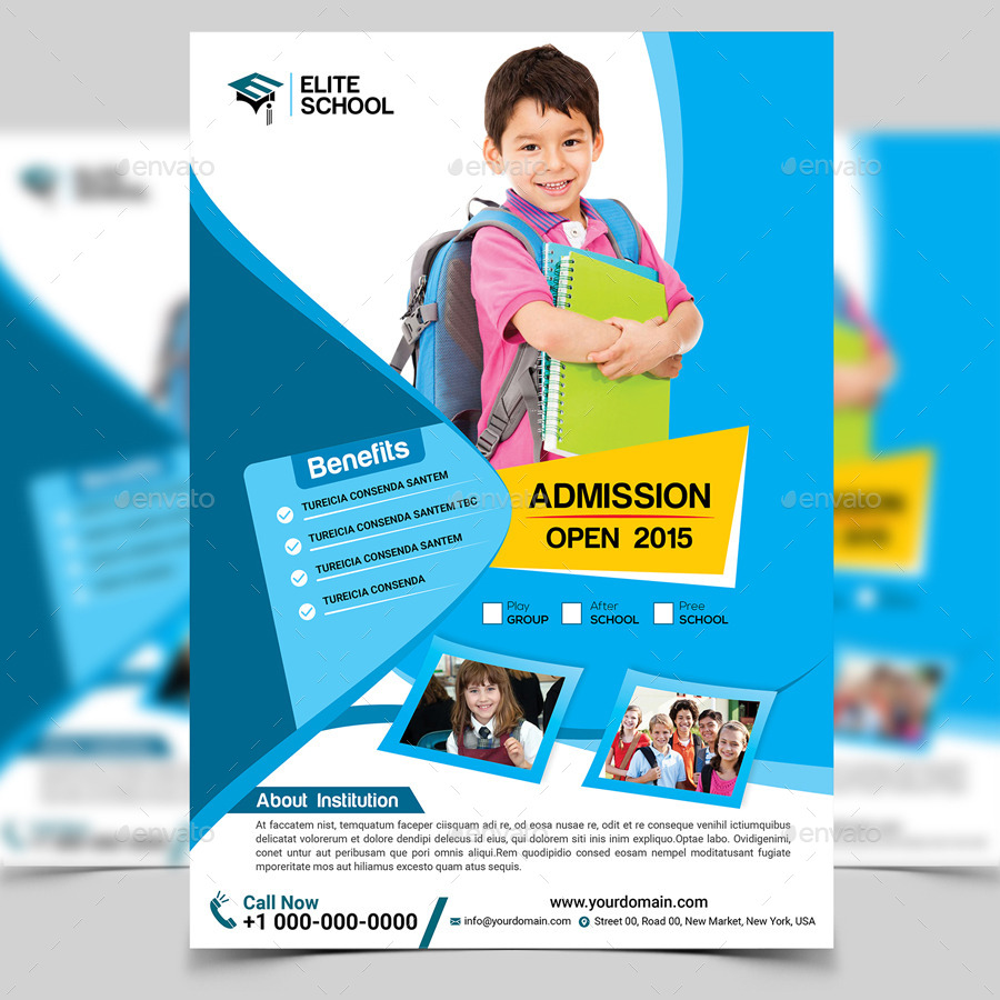 junior school flyer template by aam360 graphicriver junior school flyer template