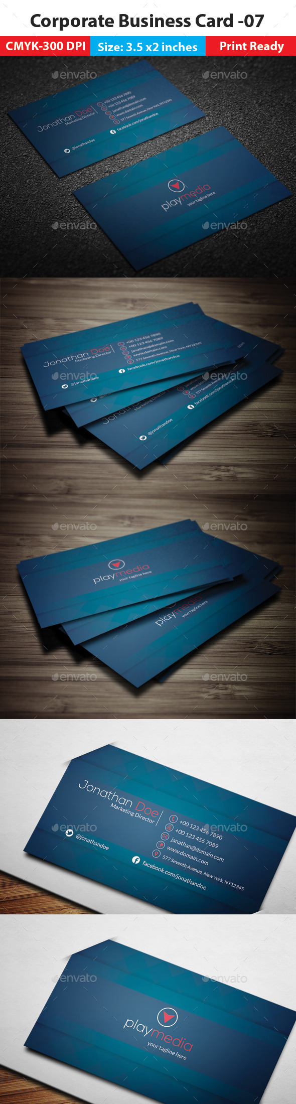 GraphicRiver Corporate Business Card 07 11950201
