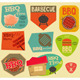 Retro BBQ Stickers Collection - GraphicRiver Item for Sale