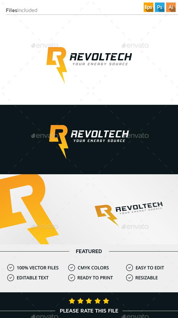 GraphicRiver Lightning Letter R Logo 11943928