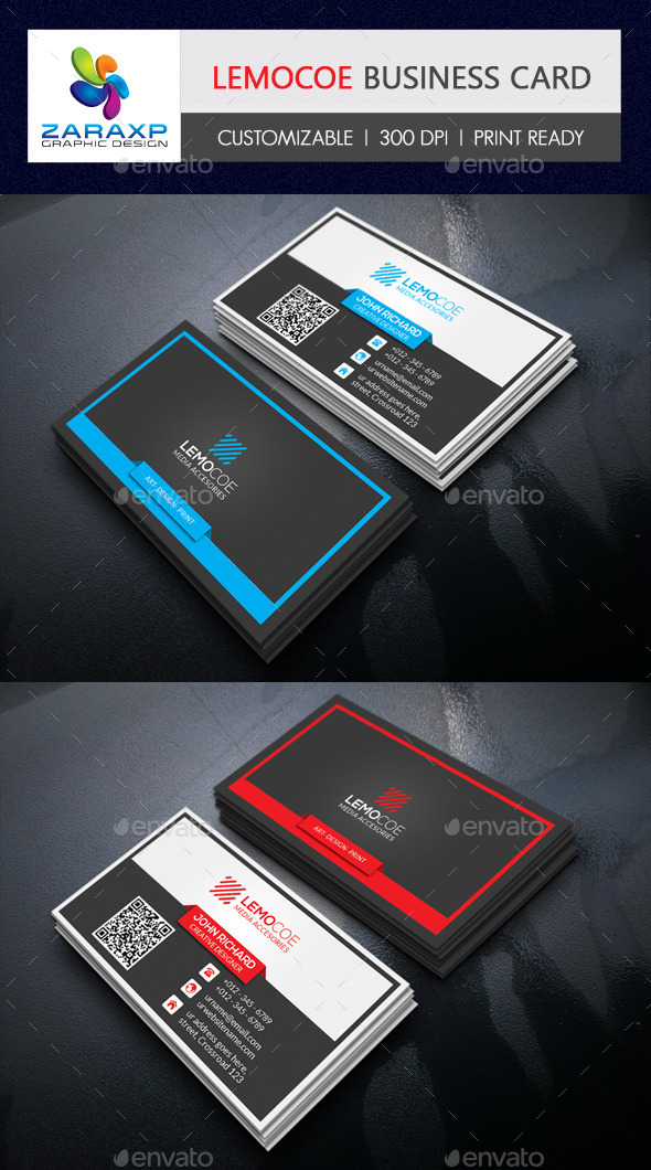 GraphicRiver Lemocoe Business Card 11950332