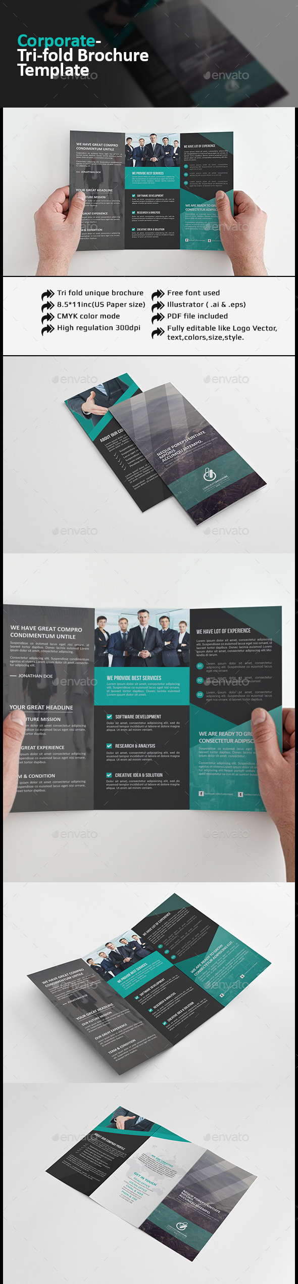 GraphicRiver Corporate Tri-fold Brochure 11950364