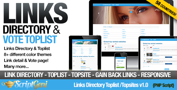 CodeCanyon Links Directory Toplist 11950369