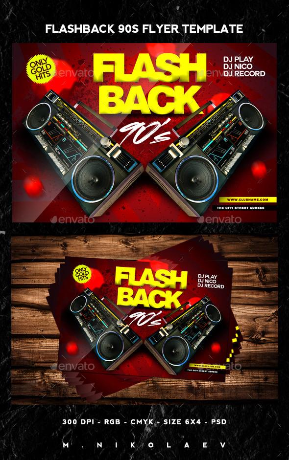 GraphicRiver Flashback 90s Flyer 11950476