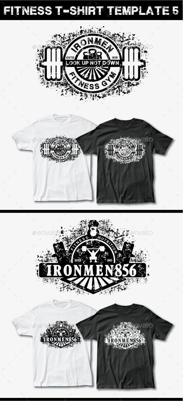 GraphicRiver Fitness T-Shirt Template 5 11950630