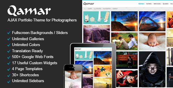 Qamar - Portfolio WordPress Theme for Photographers - Photography Creative