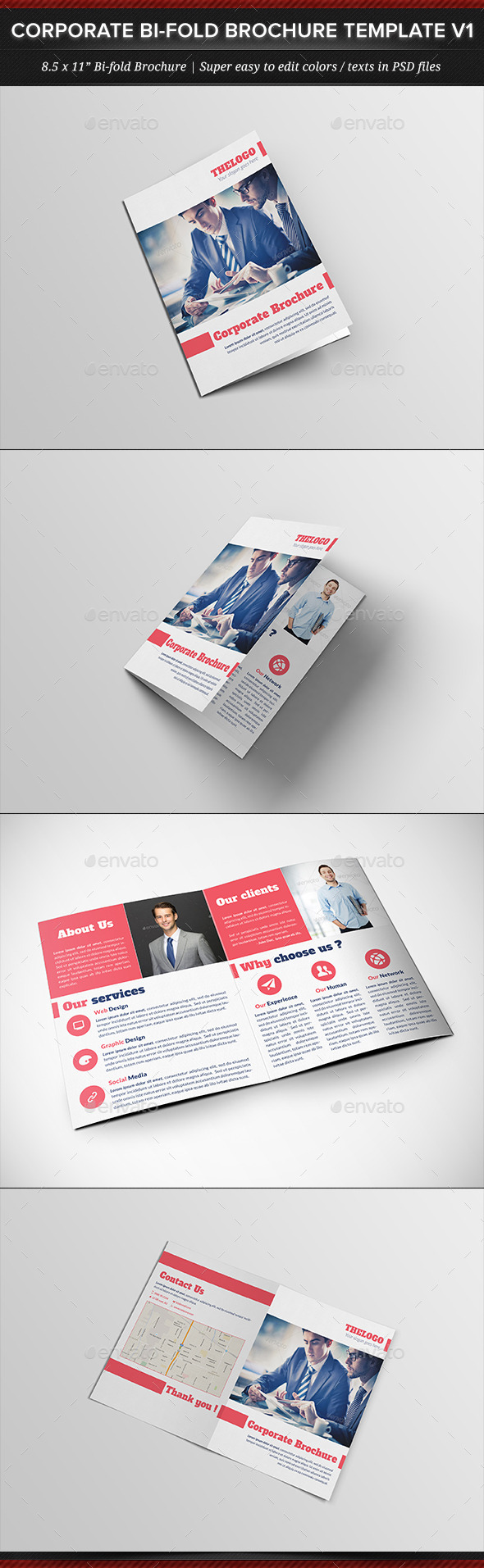 GraphicRiver Corporate Business Bi-fold Brochure Template V1 11950894