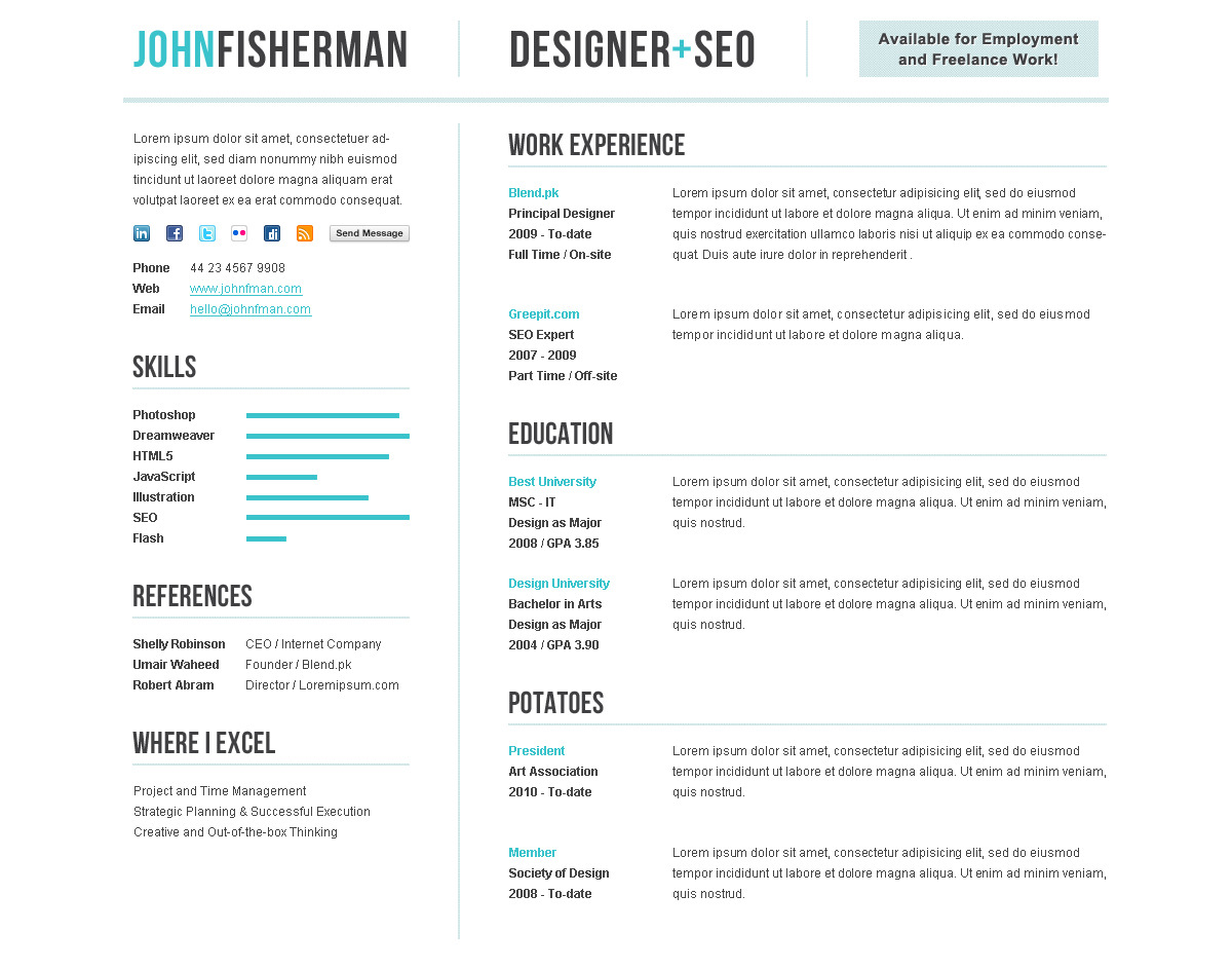 elegant cv  resume premium template by themesforce