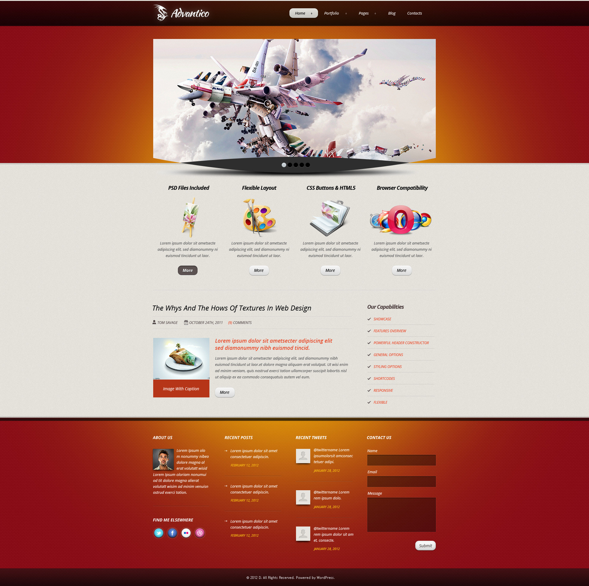Advantico - Responsive Site Template