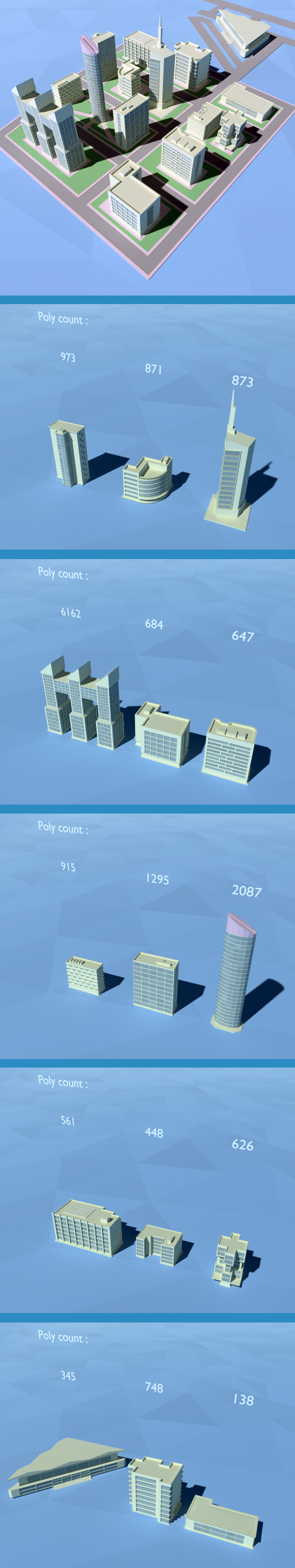 3DOcean Low Poly Building Pack 11951239