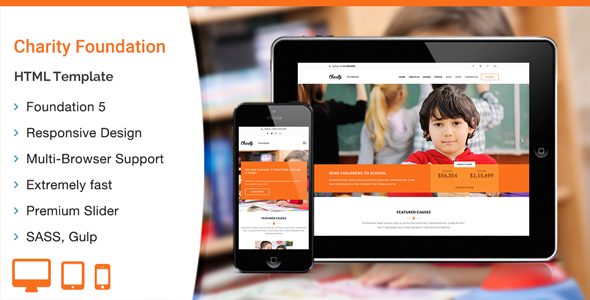 ThemeForest Charity Foundation HTML Template 11892194