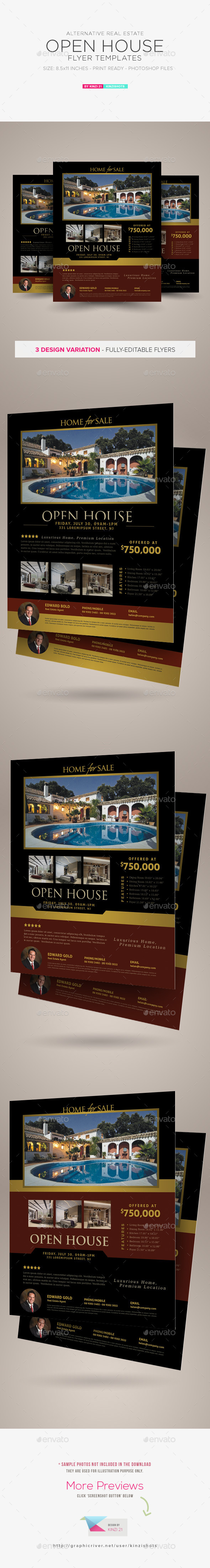 GraphicRiver Real Estate Open House Flyer Templates 11951344