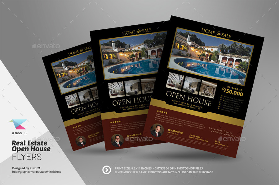Real Estate Open House Flyer Templates by kinzishots – Open House Flyers