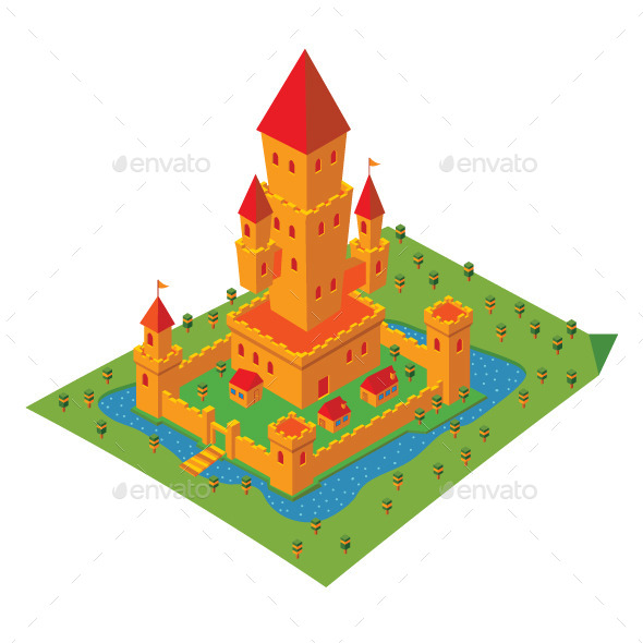 GraphicRiver Isometric Castle 11951716