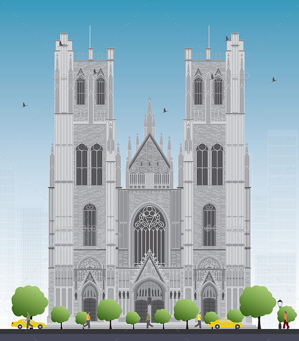 GraphicRiver Cathedral of St Michael and St Gudula 11951813