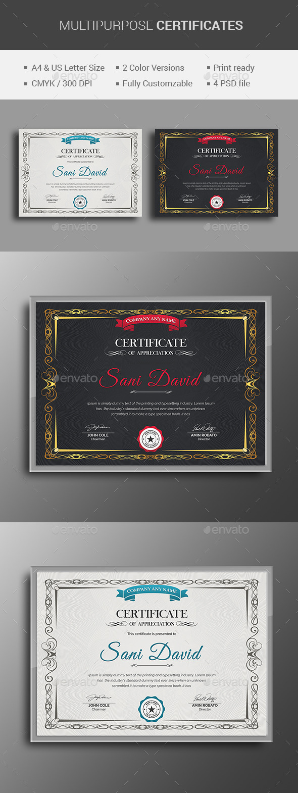 GraphicRiver Multipurpose Certificate 11947875