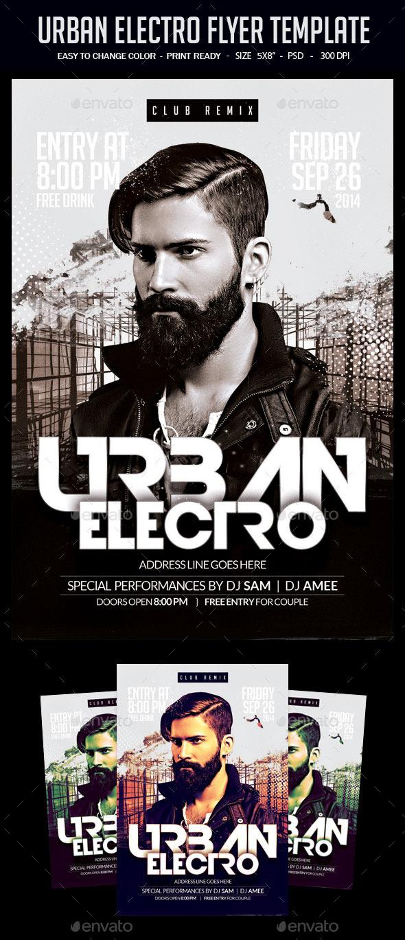 Urban Electro Flyer Template