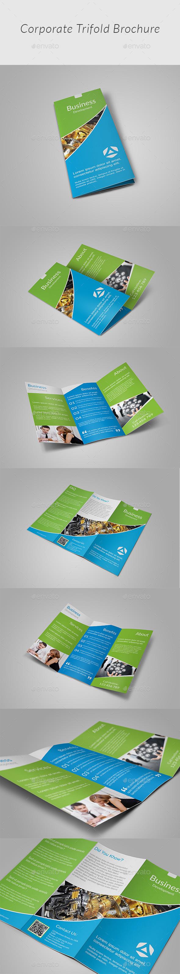 GraphicRiver Clean Tri-fold Brochure 11952146