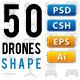 50 RC Drones Vector