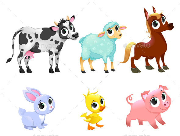 GraphicRiver Farm Animals 11952732