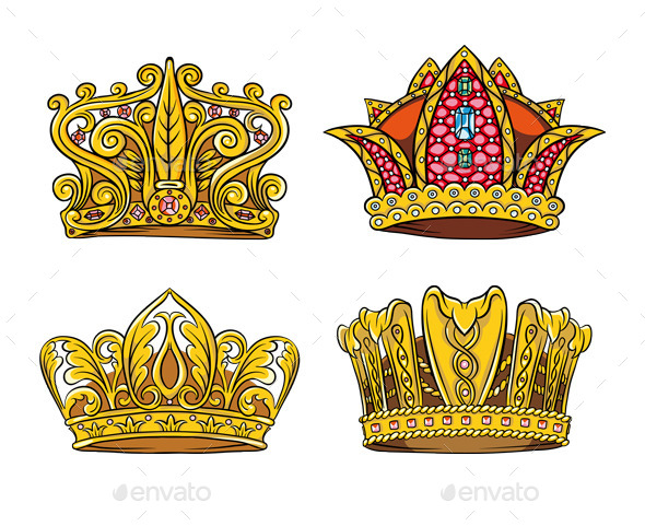 GraphicRiver Four Royal Crown 11953593