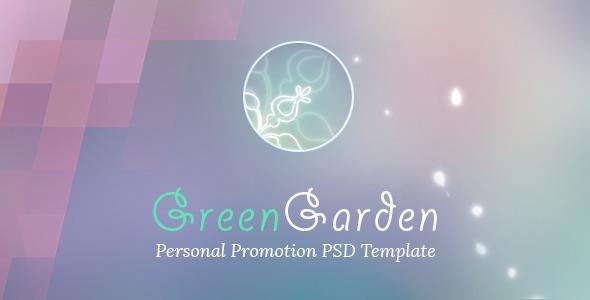 Green Garden – Personal PSD Template (Portfolio) Download