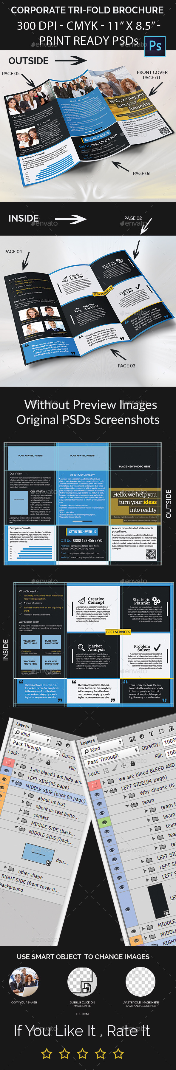 GraphicRiver Corporate Tri-Fold Brochure 11947596