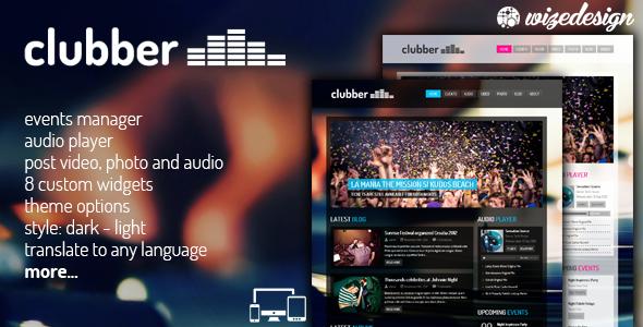 Clubber - Events & Music WordPress Theme