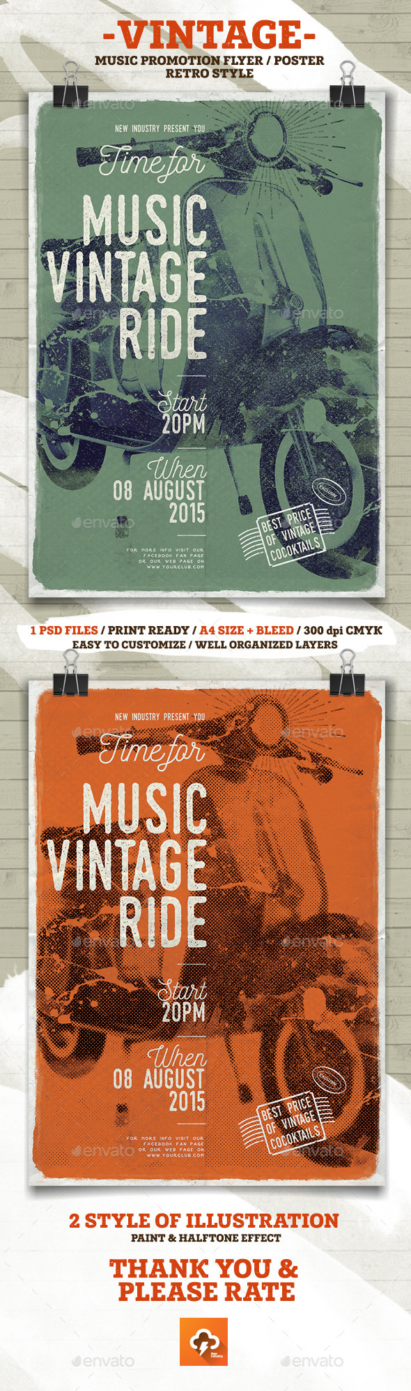 GraphicRiver Music Vintage Ride Flayer Poster 11953808