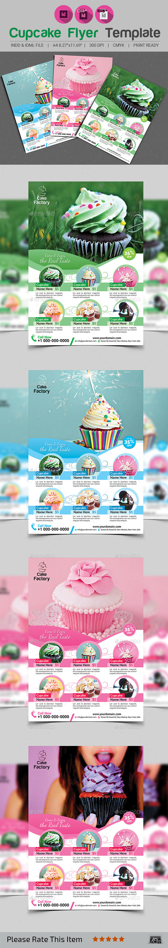 GraphicRiver Cupcake Flyer Template 11954329