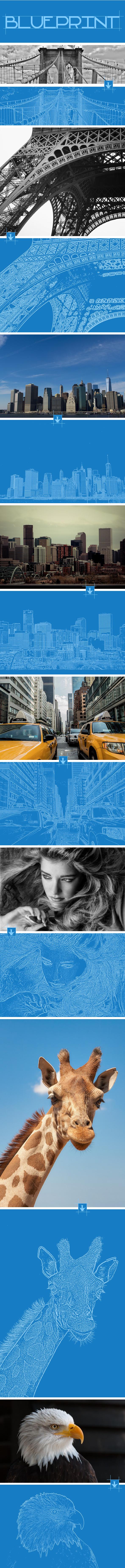 GraphicRiver Blueprint Photoshop Action 11954375