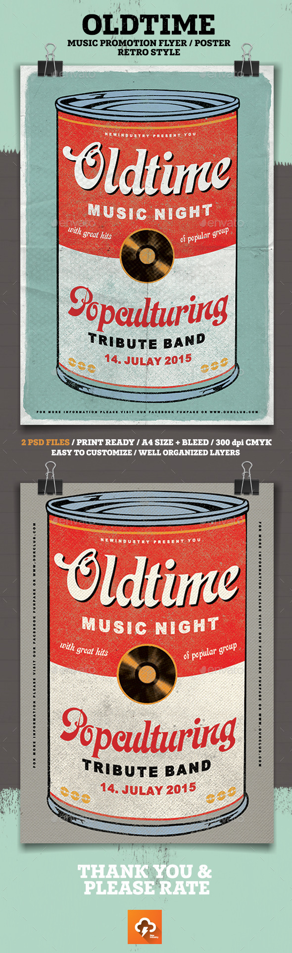 GraphicRiver Oldtime Music Flyer Poster 11954612