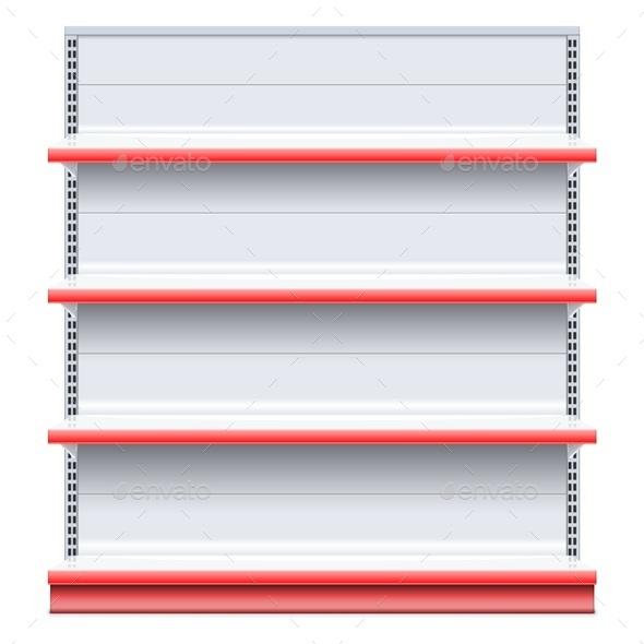 GraphicRiver Vector Supermarket Shelf 11954701