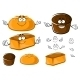 Cartoon Wheat And Rye Brown Breads Characters - GraphicRiver Item for Sale