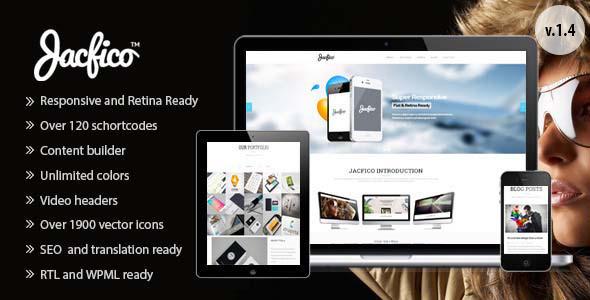 Jacfico - A flexible One Page Wordpress Theme - Creative WordPress
