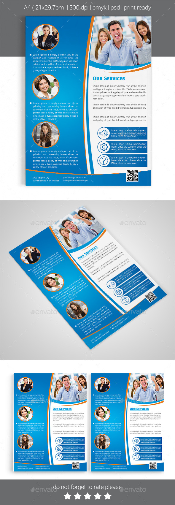 GraphicRiver A4 Corporate Business Flyer Template Vol 03 11955263