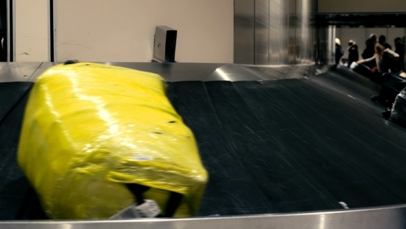 VideoHive Luggage On The Conveyor Belt 11955352