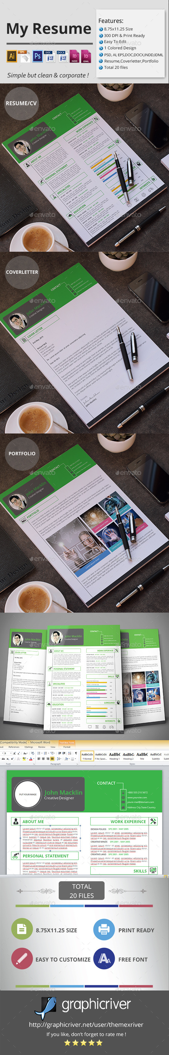 GraphicRiver My Resume CV 11955441