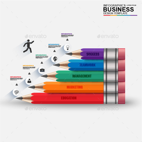 GraphicRiver Abstract 3D digital business Infographic 11955545