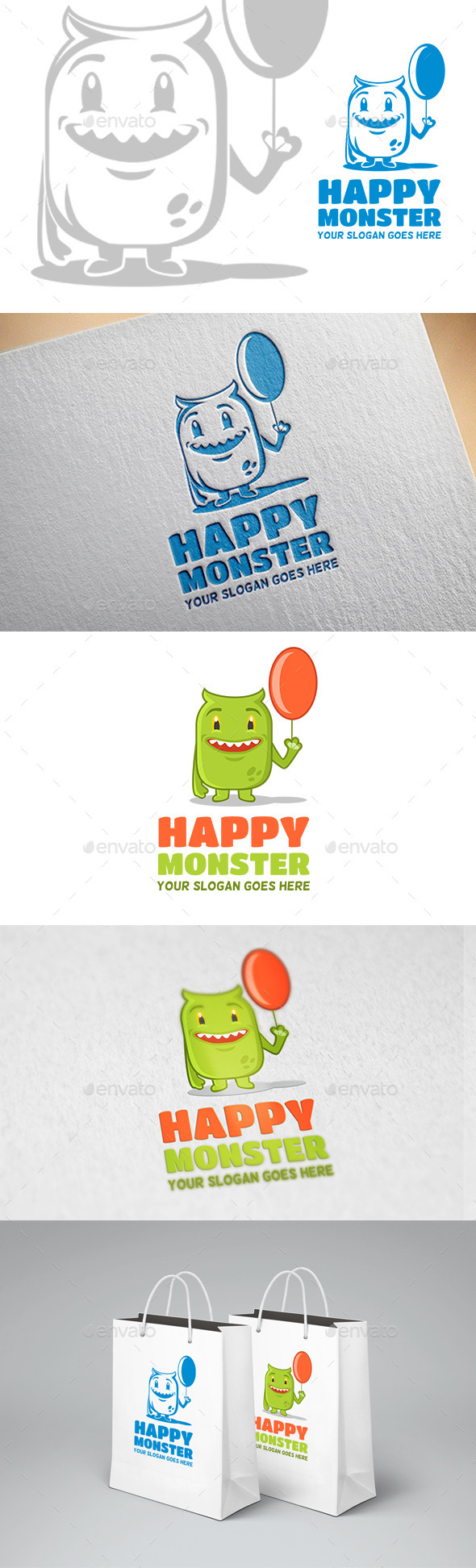 GraphicRiver Happy Monster Logo 11955664