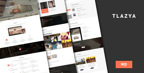 Tlazya - Creative OnePage Parallax WordPress Theme